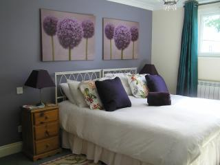 Master bedroom of the three bedroom Prestige Cottage.