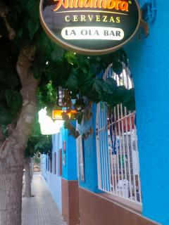 One of the bar streets in Los Narejos with lounges and roof terrace dancing