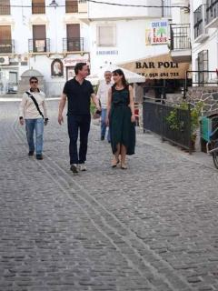 David Cameron on holiday in Guejar walking past one of our favourite bars, Bar Poli!