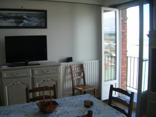 Porte fenêtre de la salle à manger donnant sur le balcon
