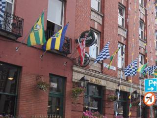 Lower Gardiner Street with Irish Pubs, Shops and Restaurants
