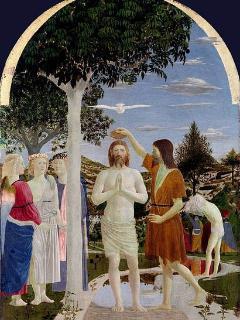 Tavola del Battesimo di Cristo, opera di Piero della Francesca National Gallery