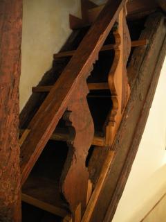 Prima rampa della scala originale.