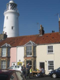 Our hut is near Southwold lighthouse.
