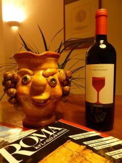 Enjoy your Complimentary Bottle of Wine and Read some Articles from a Vast Array of Italian Mags