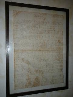 Documento originale datato 1891 della vendita dalla chiesa ai privati.