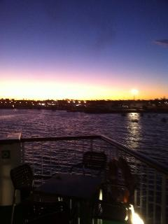 sun set in Lanz!