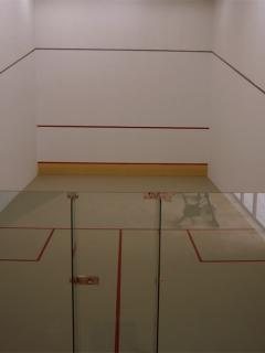 One of the two Squash courts