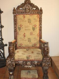 The old throne for a photo opportunity!