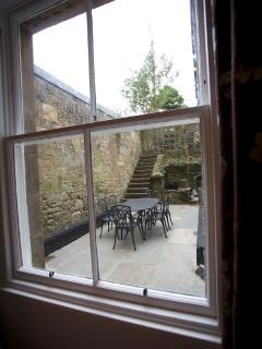 Rear courtyard from Lounge