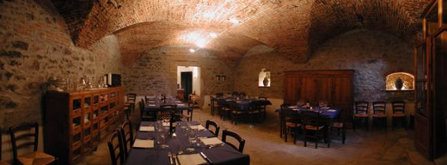 restaurant in the medieval hall of the castle
