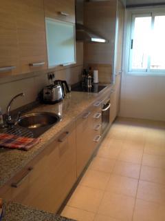 Kitchen with views to Selwo Safari Park