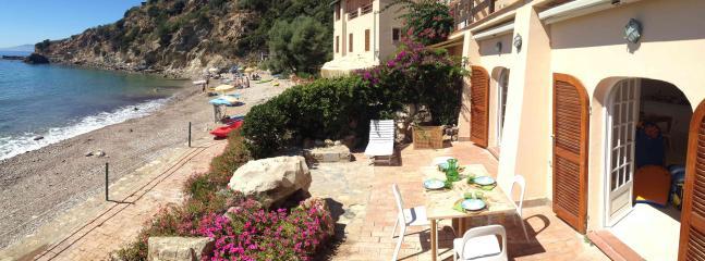 our terrace on the beach