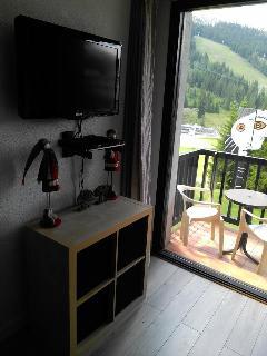 Vue sur terrasse à partir du fauteuil