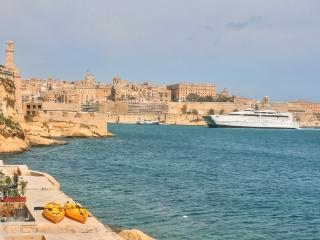 Fort St. Angelo seaview, Island of Malta