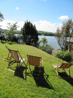 Deckchairs with views...