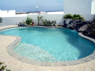 Pool to lower patio