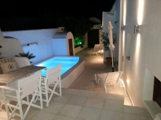 Courtyard and Pool at night