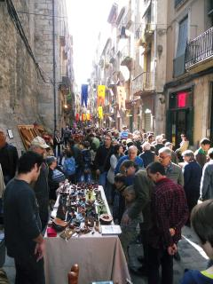 The old streets of Girona are filled at festival time in Summer and Autumn