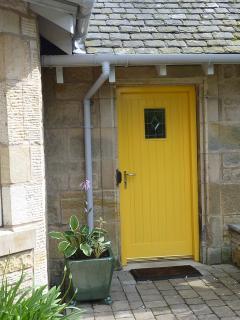 Sunnybraes Lodge very sunny welcoming door!