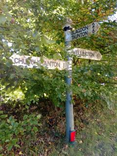 The signpost near The Old Pigsty