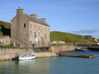View of the house and harbour