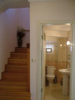 Hallway and downstairs lavatory.