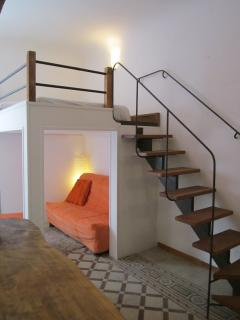 the mezzanine and couch