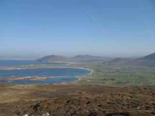 view on top of dunaff hill whic is at the back of the cottages