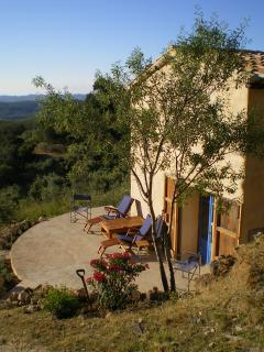 One of the terraces, perfect for sunrise yoga or sunset wine-imbibing
