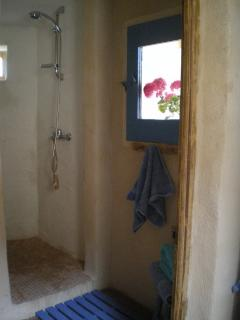The spacious shower