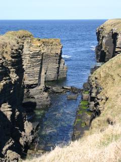 Dramatic nearby coastal cliffs