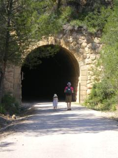 The entrance to the Via Verde, one of the beautiful local hiking trails