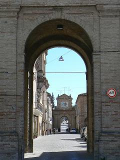 Servigliano - our lovely neo-classical town with cafes, shops and restaurants