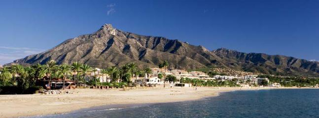 Over 100km of beaches on the Costa del Sol to choose from. La Concha mountain, Marbella, 30 mins.