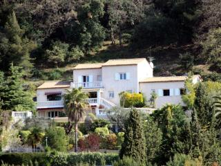Villa is secluded from the road.  This photo was zoomed from 1km away