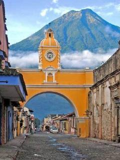 Santa Catalina Arch.  One of the landmarks of the city