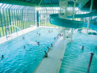 Indoor Pool and fun slide included at nearby leisure club