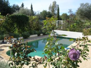 The big pool is warm and always with lots of flowers around. You are alone there - most of the time