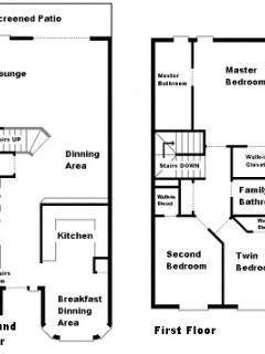 Floor plan of villa