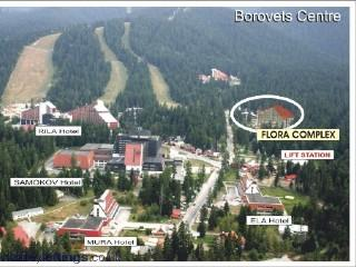 Location in centre of Borovets resort next to gondola station