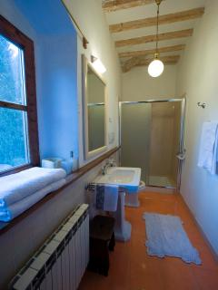 a bathroom with shower of the B&B