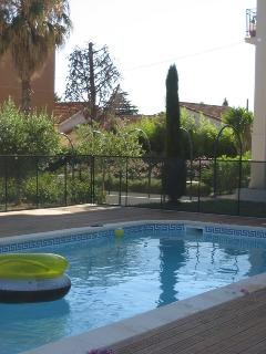 Pool with Boules area beyond