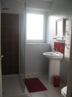 La salle de bains avec une douche à l'italienne