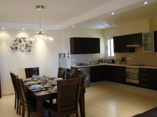 Our dining and kitchen area... more than enough space for the largest of families.
