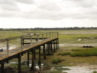 Causeway and jetty at low tide
