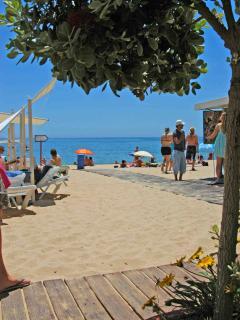 BEACH only a 2 minute walk away!