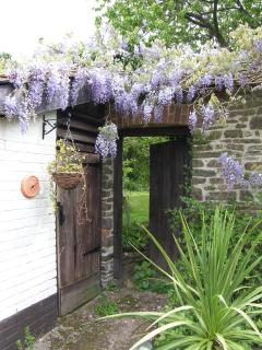 Entrance to large garden