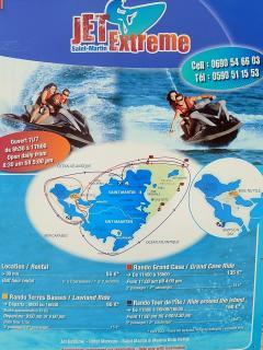 Activités nautiques à proximité immédiate (jet ski) pour faire le tour du lagon ou de l'île
