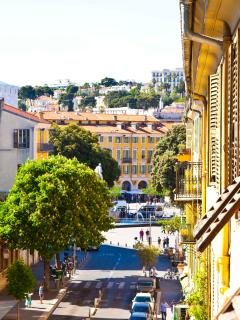 A view towards the historic Place Garibaldi, just a stones throw away